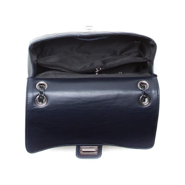 Skórzana torebka Anna Luchini 2118 Blu