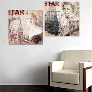 Dwuczęściowy obraz Star Marilyn, 35x70 cm