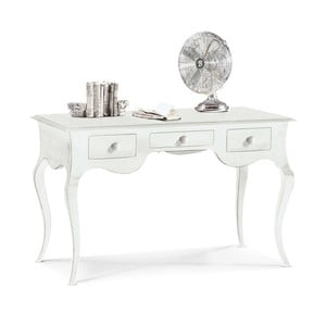 Białe biurko drewniane z 3 szufladami Castagnetti Mare