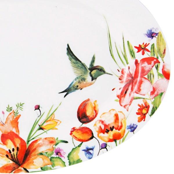 Kolorowy talerz Krauff Colibri Oval, 30,6 cm