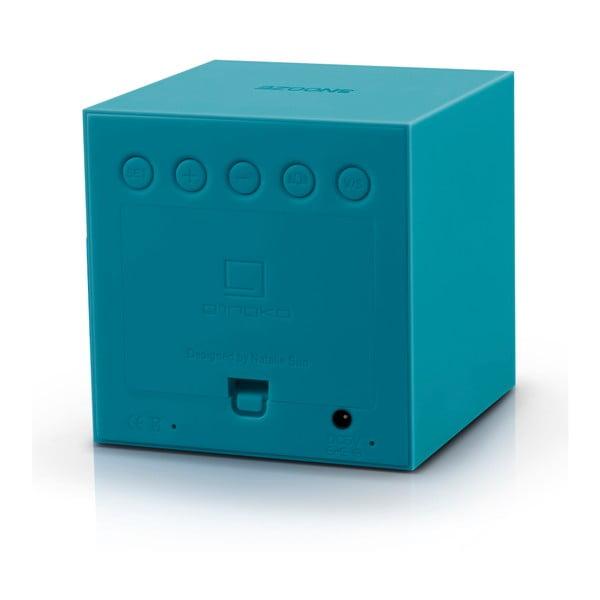 Ciemnoturkusowy budzik LED Gingko Gravitry Cube