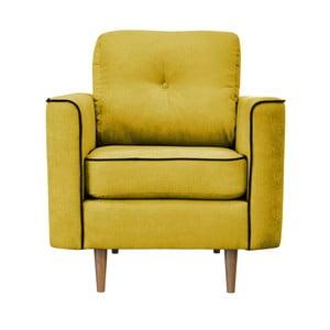 Żółty fotel z jasnymi nogami Mazzini Sofas Butterfly