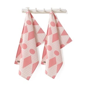 Zestaw ścierek Flags Pink