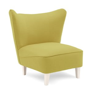 Zielony fotel z jasnymi nogami Vivonita Sandy