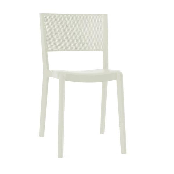 Zestaw 2 białych krzeseł ogrodowych Resol spot