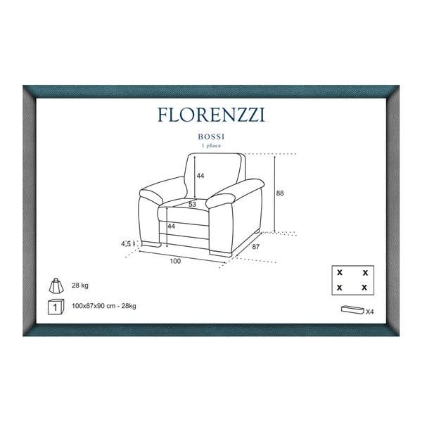 Biały fotel Florenzzi Bossi