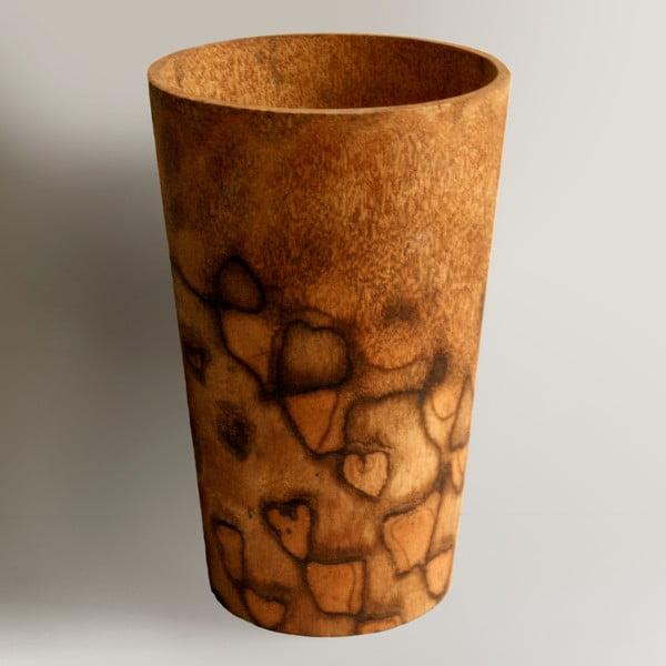 Palmowy wazon Wood, 34 cm