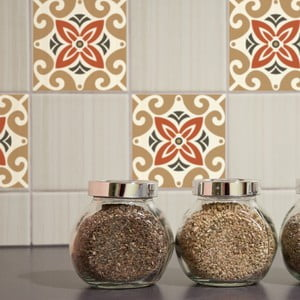 Nklejki Tile Art Beige Ornament, 4 szt.