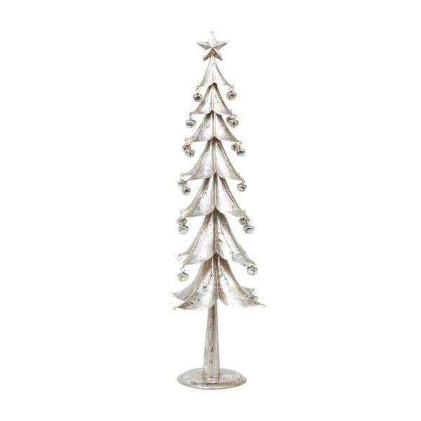 Dekoracja Archipelago Silver Metal Tree With Bells, 54 cm