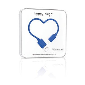Kabel do ładowania i transmisji danych Happy Plugs 2 m, kobaltowy