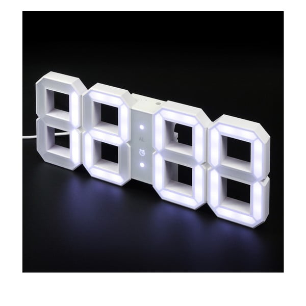 Biały zegar LED - Vadim Kibardin, 10 m