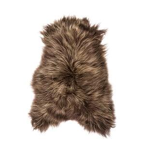 Brązowa skóra owcza z długim włosiem Chesto, 90x50cm