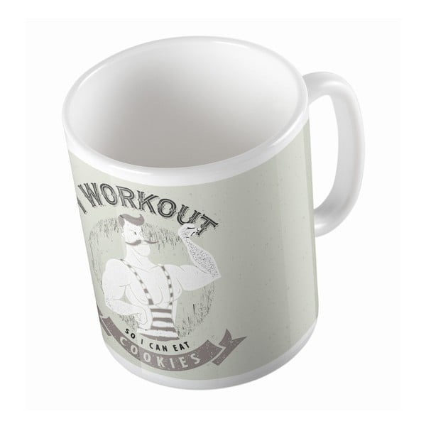 Ceramiczny kubek Workout and Cookies, 330 ml