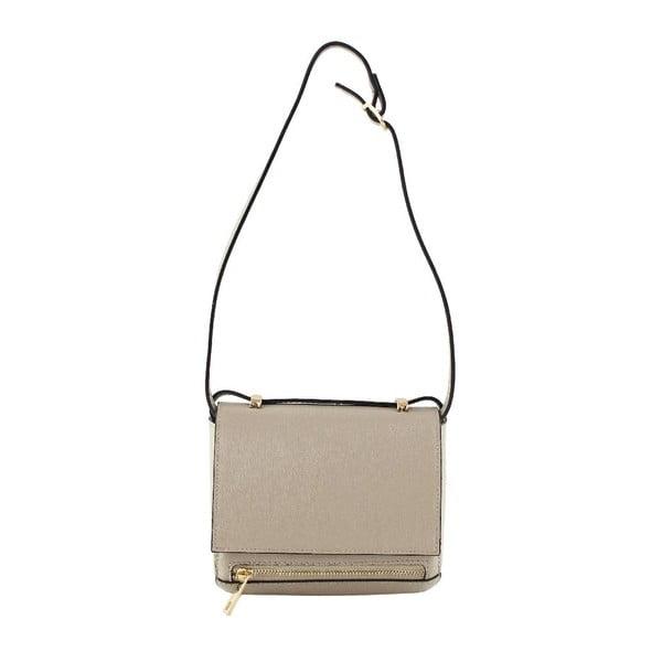 Skórzana torebka przez ramię Sonja, taupe