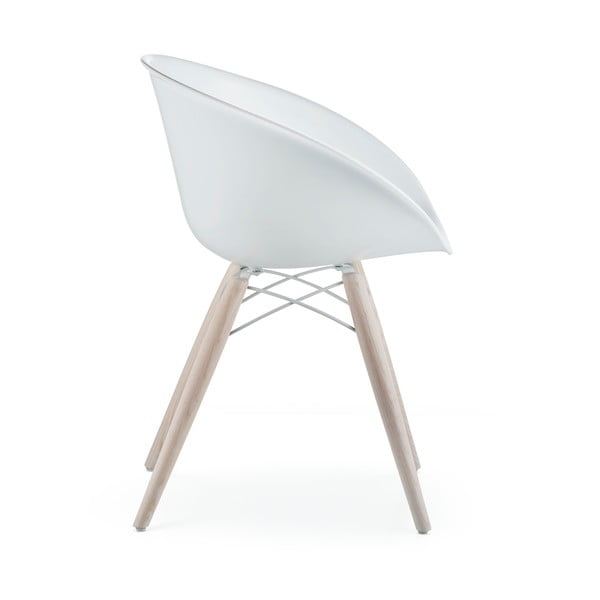 Białe krzesło Pedrali Gliss Wood
