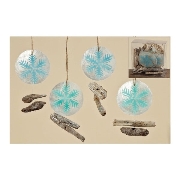 Zestaw 10 wiszących dekoracji Winter Ball