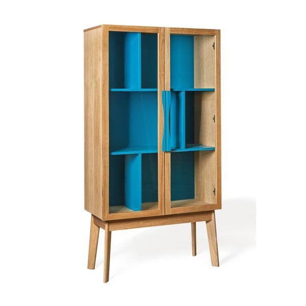 Niebieska biblioteczka/witryna Woodman Avon