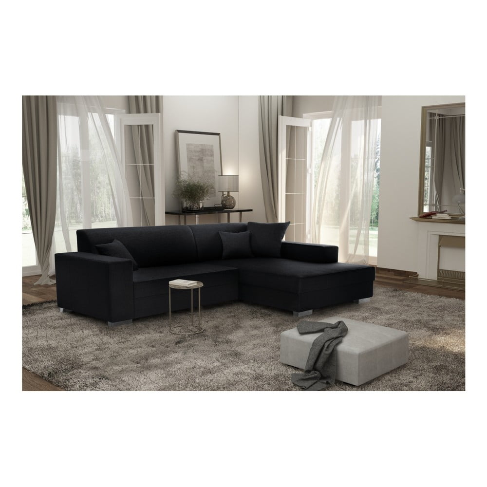 czarny naro nik prawostronny interieur de famille paris perle bonami. Black Bedroom Furniture Sets. Home Design Ideas