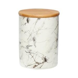Biały pojemnik porcelanowy Hübsch Marble, wys.19cm