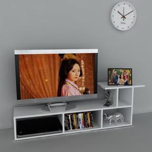 Stolik telewizyjny Sedrus White, 29,5x140x45,5 cm