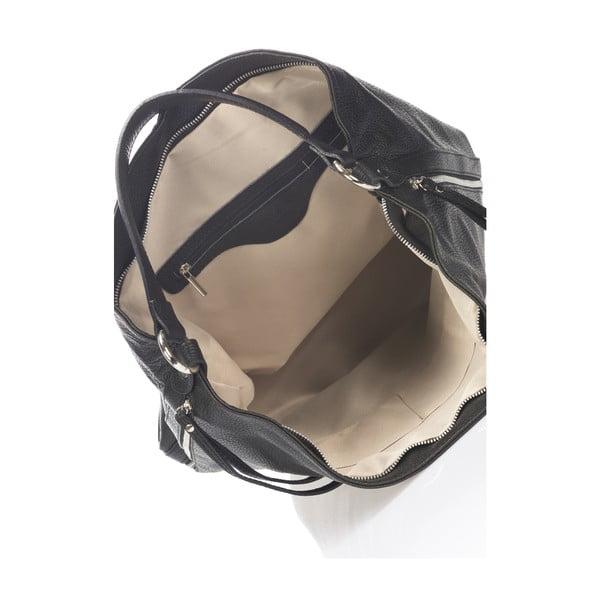 Skórzana torebka Krole Karla, czarna