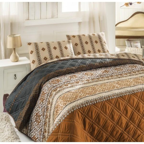 Pikowana narzuta i 2 poszewki na poduszki  Double 286, 200x220 cm