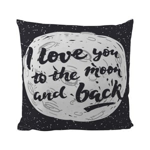 Poduszka Black Shake Love You To The Moon, 40x40 cm
