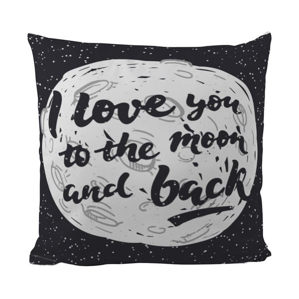 Poduszka Black Shake Love You To The Moon, 40x40 cm