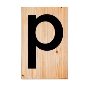 Drewniana tabliczka Letters P