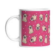 Ceramiczny kubek Playful Pugs, 330 ml