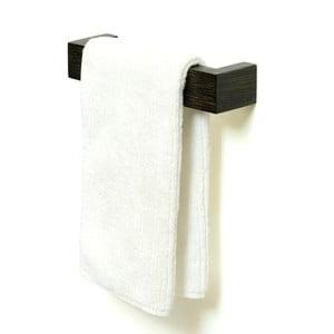 Uchwyt na ręczniki z drewna dębowego Mezza Dark Wireworks, 28 cm