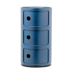 Niebieska szafka z 3 szufladami Kartell Componibili