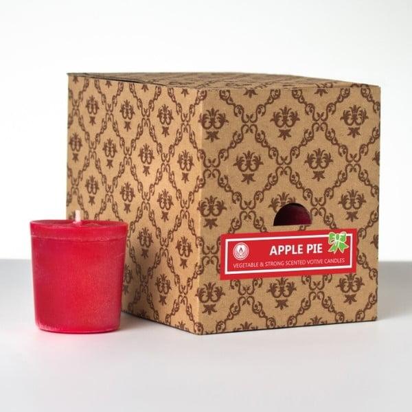 Zestaw 12 świeczek zapachowych Apple Pie, 15 godzin palenia