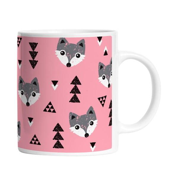 Ceramiczny kubek Foxy Fox, 330 ml