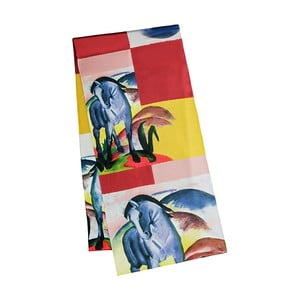 Chustka z jedwabnej satyny Von Lilienfeld Blue Horse