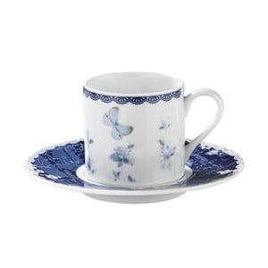 Zestaw 6 filiżanek porcelanowych ze spodkami Kutahya Floral, 50 ml