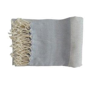 Niebieski ręcznie tkany ręcznik z bawełny premium,100x180 cm