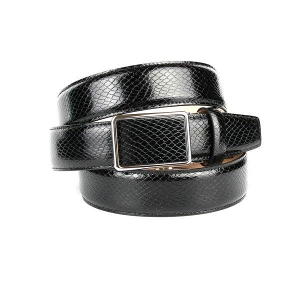 Pasek skórzany męski 17SN10S Black, 110 cm