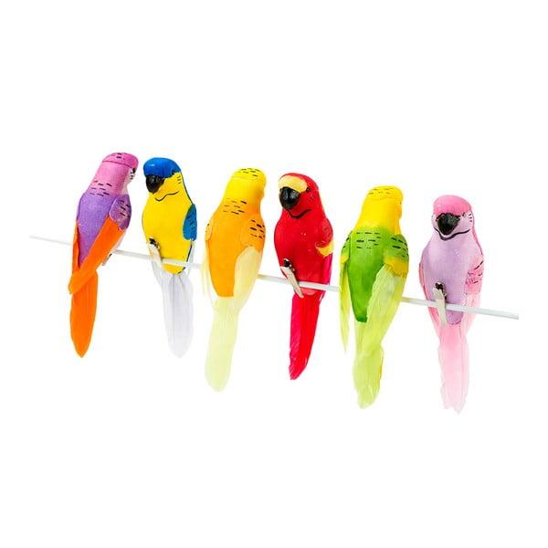 Zestaw 6 ptaszków dekoracyjnych Talking Tables Fiesta