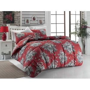 Narzuta pikowana na łóżko dwuosobowe Rengi Red, 195x215 cm