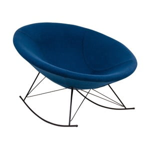 Niebieski fotel na biegunach House Nordic Kissa
