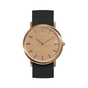 Czarny drewniany zegarek Analog Watch Co. Classic