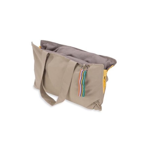 Przenośne siedzisko + torba Hhooboz 50x60 cm, beżowe