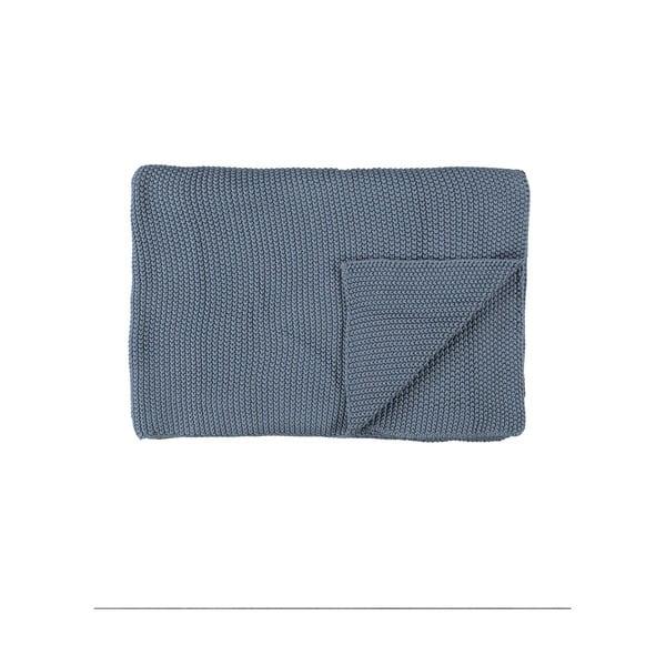 Niebieski pled Marc O'Polo Nordic, 130x170 cm