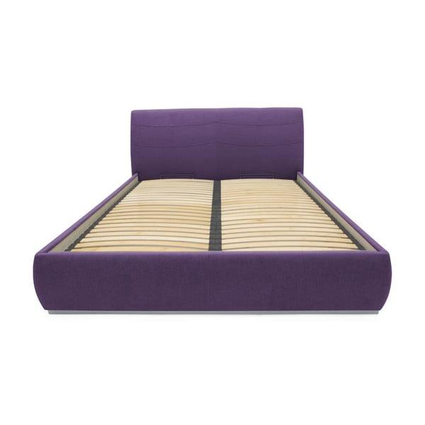 Fioletowe łóżko 2-osobowe Mazzini Beds Luna, 140x200cm
