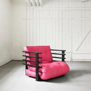Fotel rozkładany Karup Funk Black/Magenta