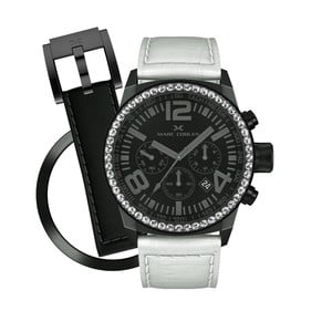 Zegarek damski Marc Coblen z dodatkowym paskiem i obręczą P48