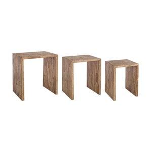 Zestaw 2 stolików z drewna wtórnego Bizzotto Simplicity