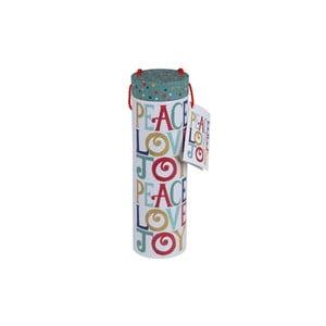 Tuba podarunkowa na butelkę Merry Peace Love
