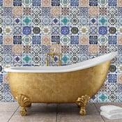 Zestaw 12 naklejek na ścianę Walplus Meksykańska mozaika